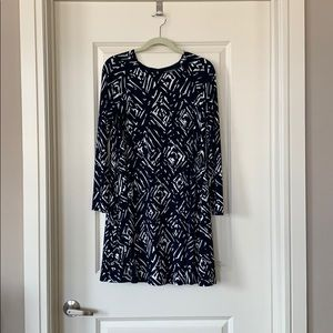 Ralph Lauren Long-Sleeve Navy Dress